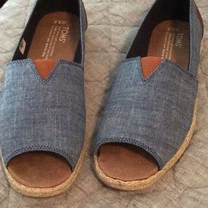 Cute denim toms